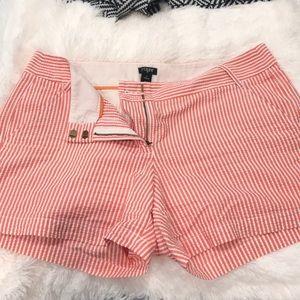 J crew size 12 cityfit orange/peach shorts